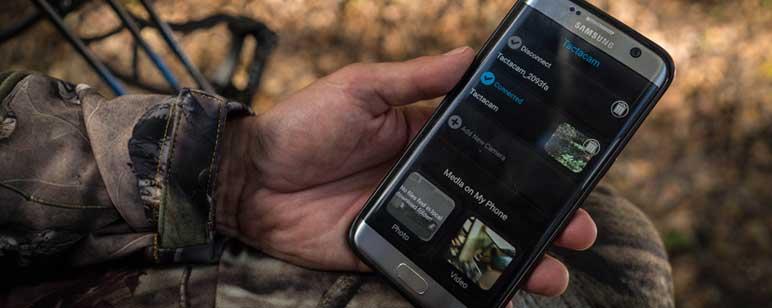 Tactacam connected to phone via the Tactacam App